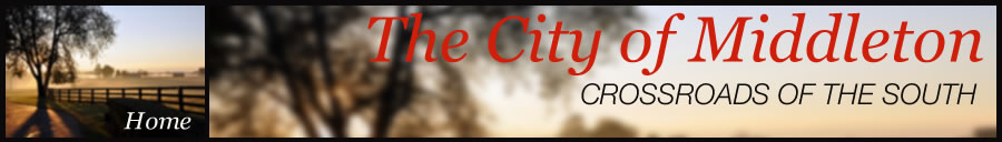 City of Middleton Home page header