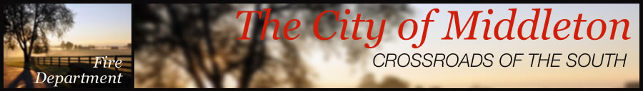 City of Middleton Fire Department page header